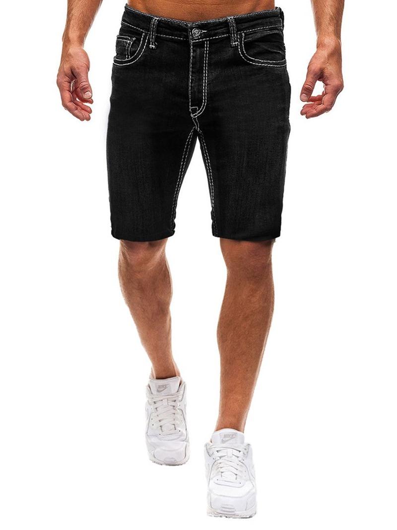 Ericdress Pocket Color Block Loose Zipper Mens Casual Shorts