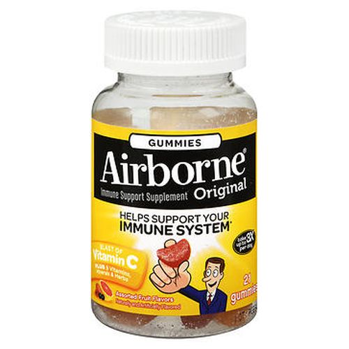Airborne Gummies Assorted Fruit Flavors 21 Each by Airborne