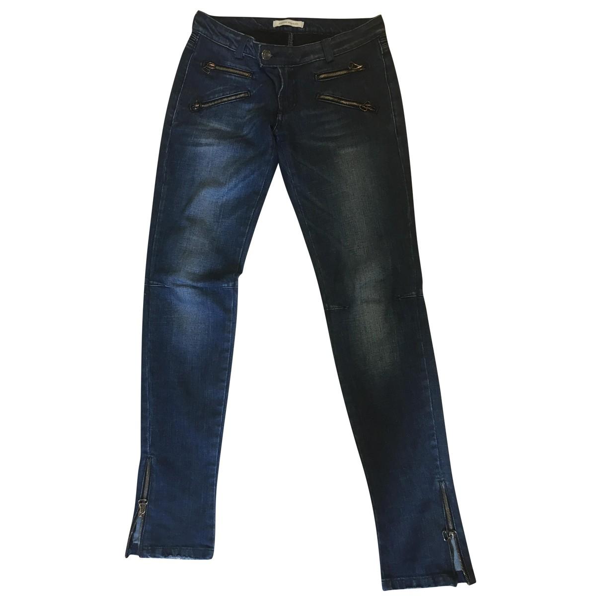 Pierre Balmain \N Blue Cotton Jeans for Women 28 US