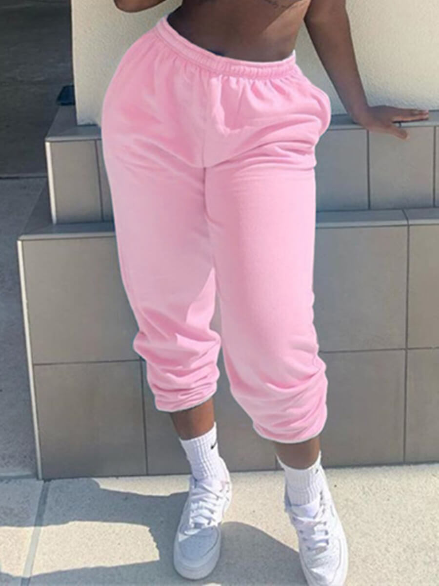 LW Lovely Casual Basic Pink Pants