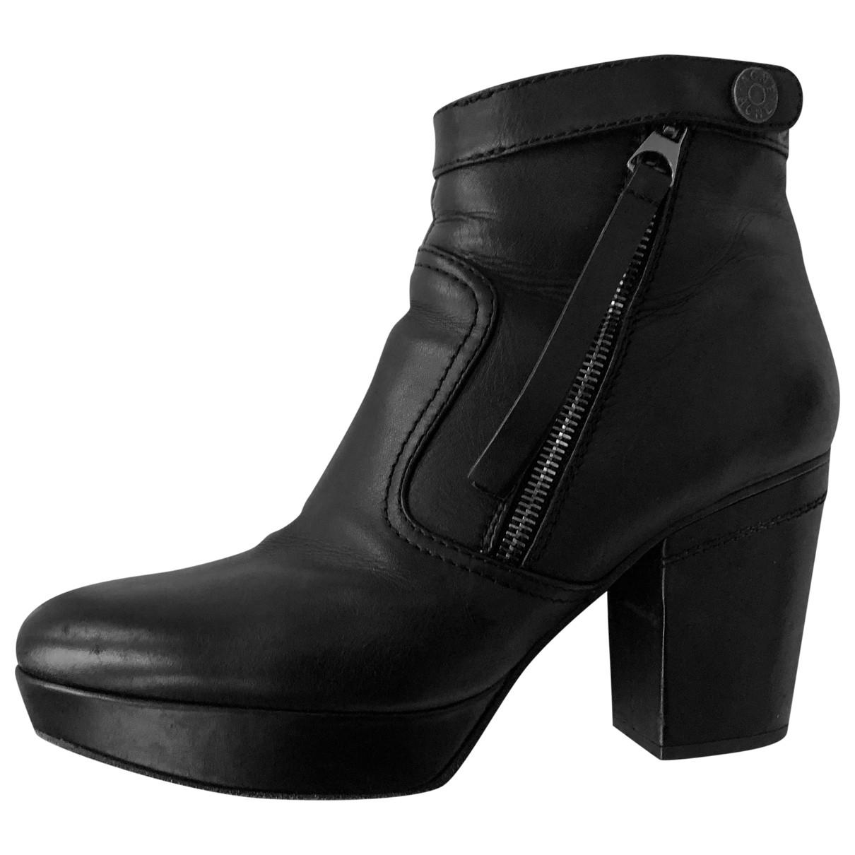 Acne Studios - Bottes   pour femme en cuir - noir