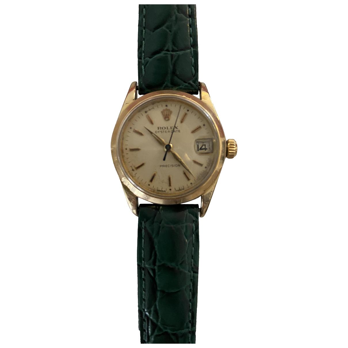 Rolex - Montre Oysterdate 34mm pour femme en or jaune - dore