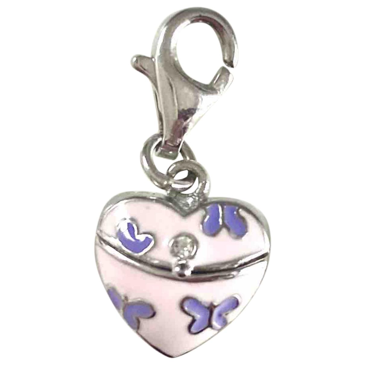 - Pendentif Motifs Coeurs pour femme en argent - rose