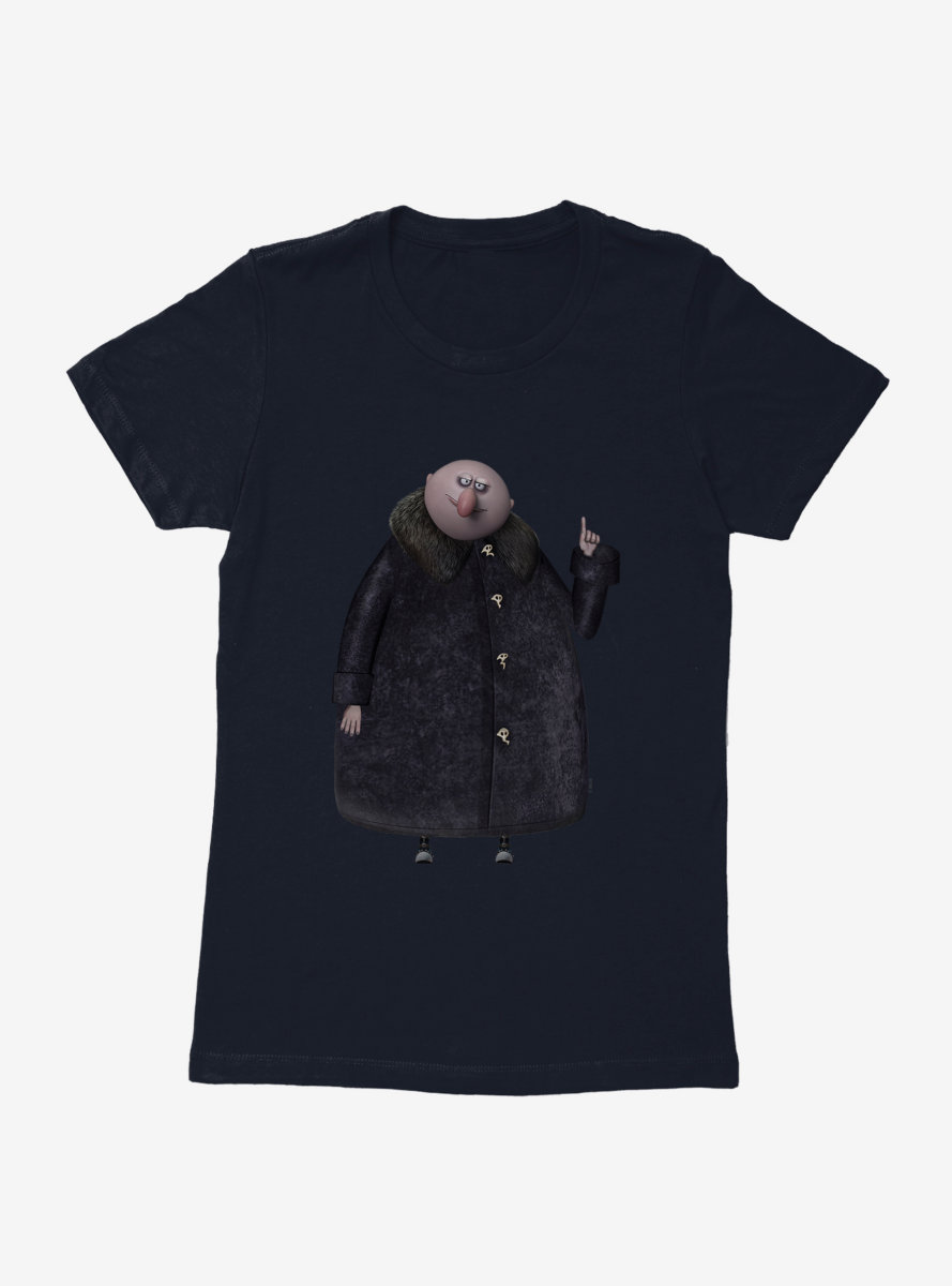The Addams Family Uncle Fester Side Pose Womens T-Shirt