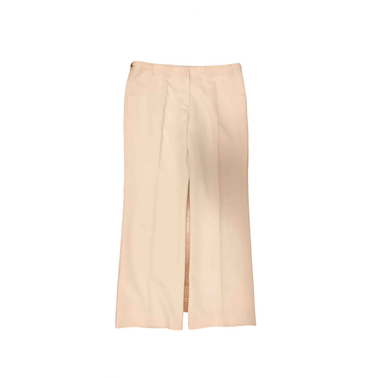 Fay \N White Cotton Trousers for Women 46 IT