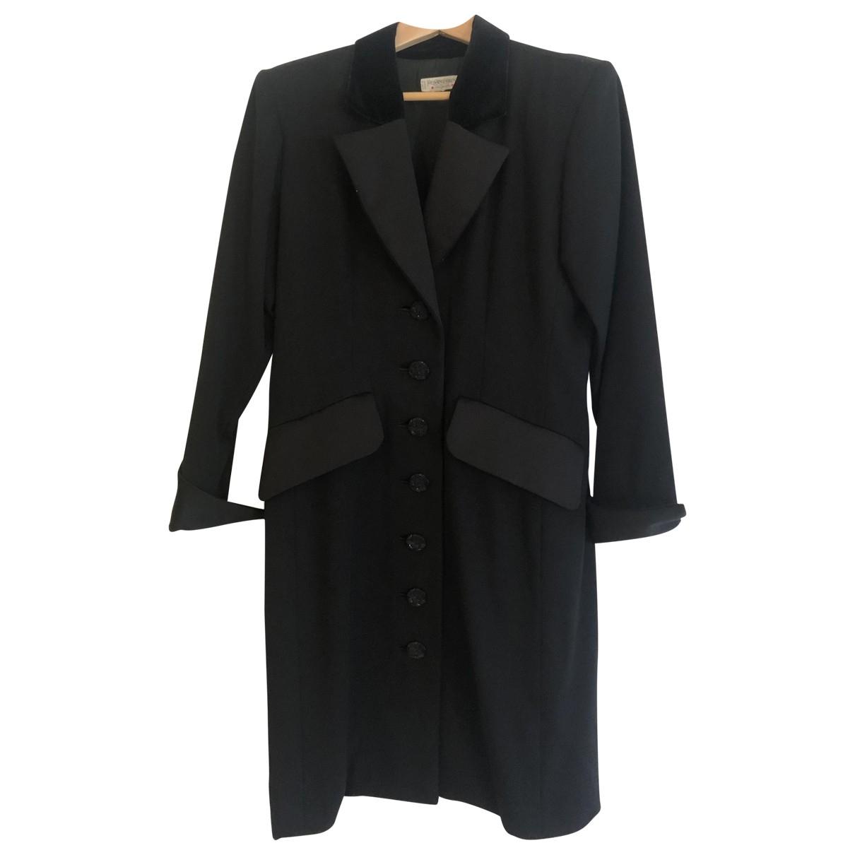 Yves Saint Laurent \N Black Wool coat for Women 40 FR