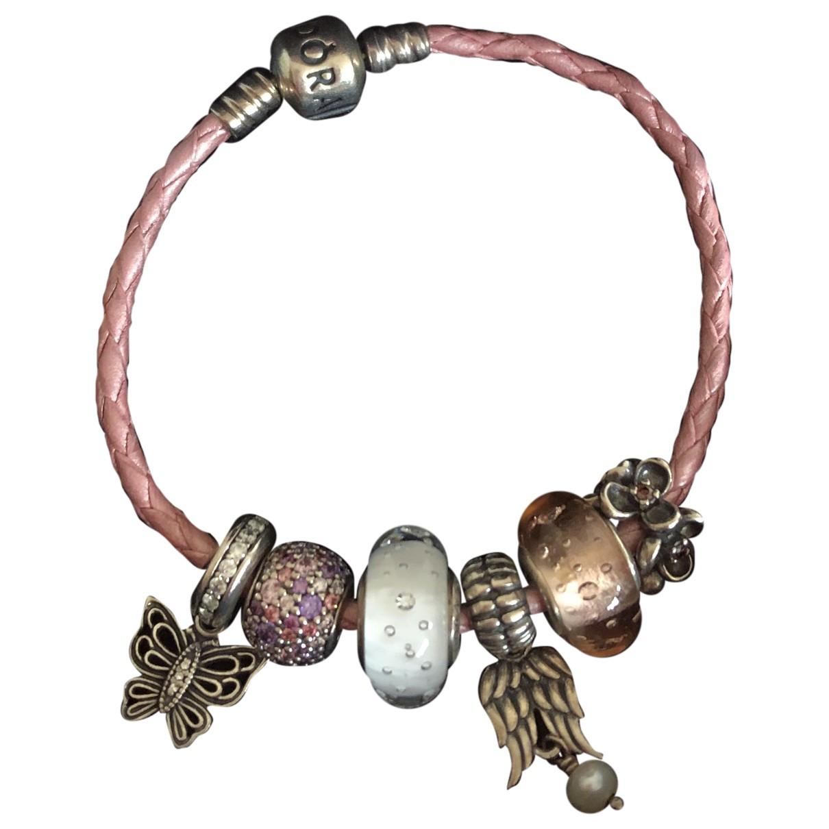 Pandora - Bracelet   pour femme en cuir - multicolore