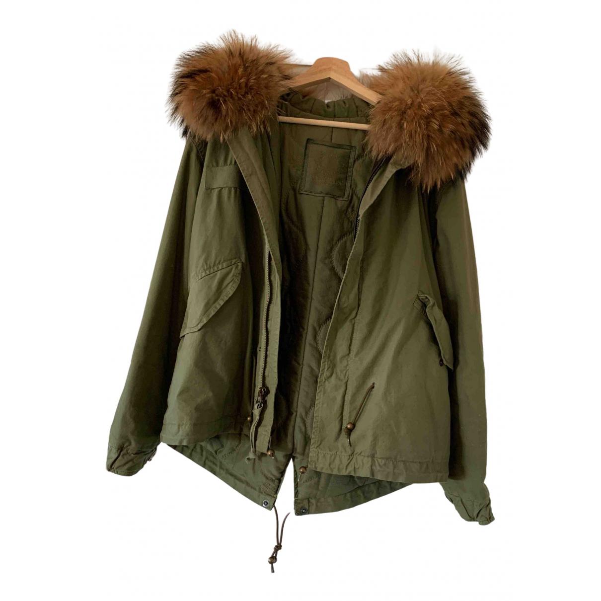 Mr & Mrs Furs - Manteau   pour femme en coton - kaki