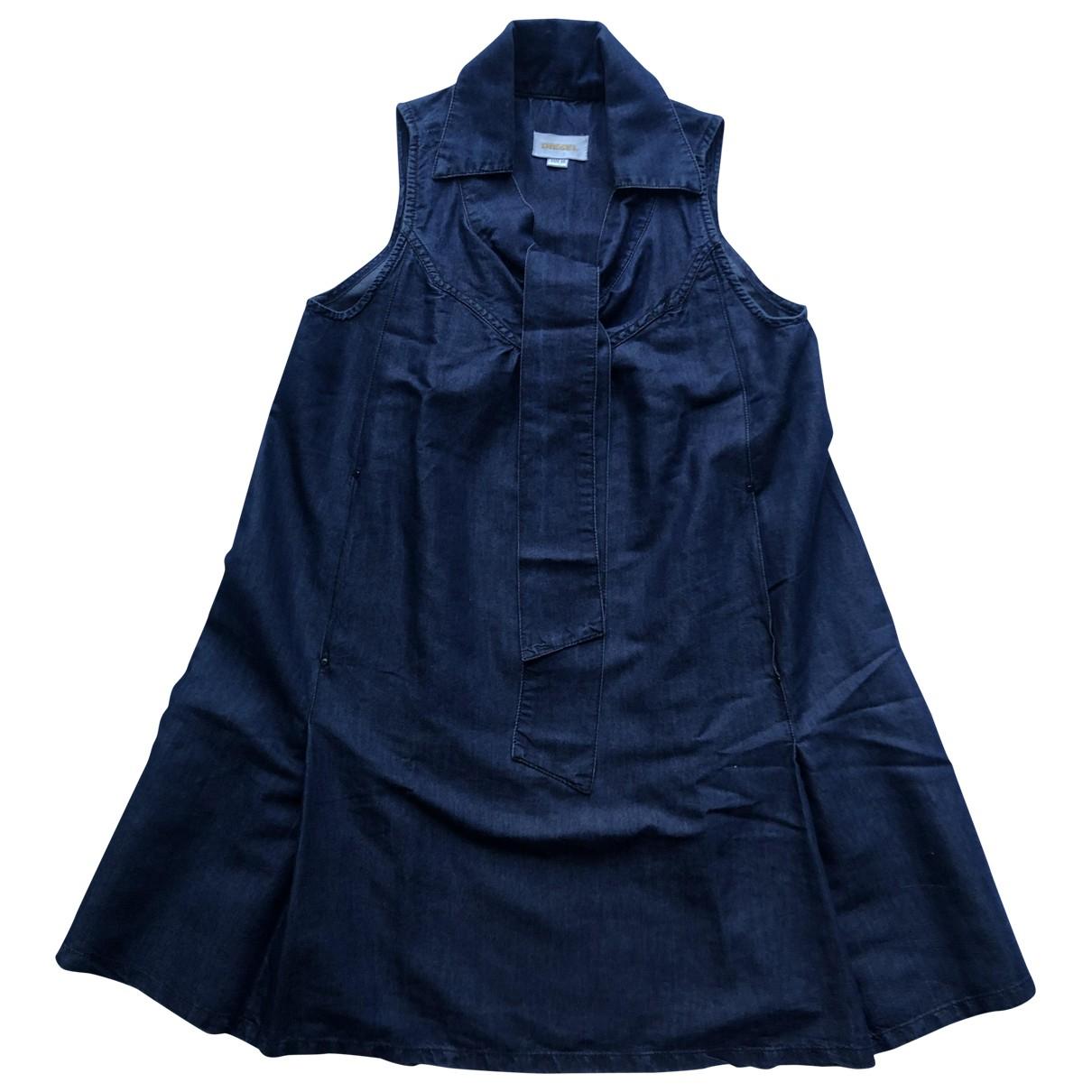 Diesel \N Kleid in  Blau Baumwolle