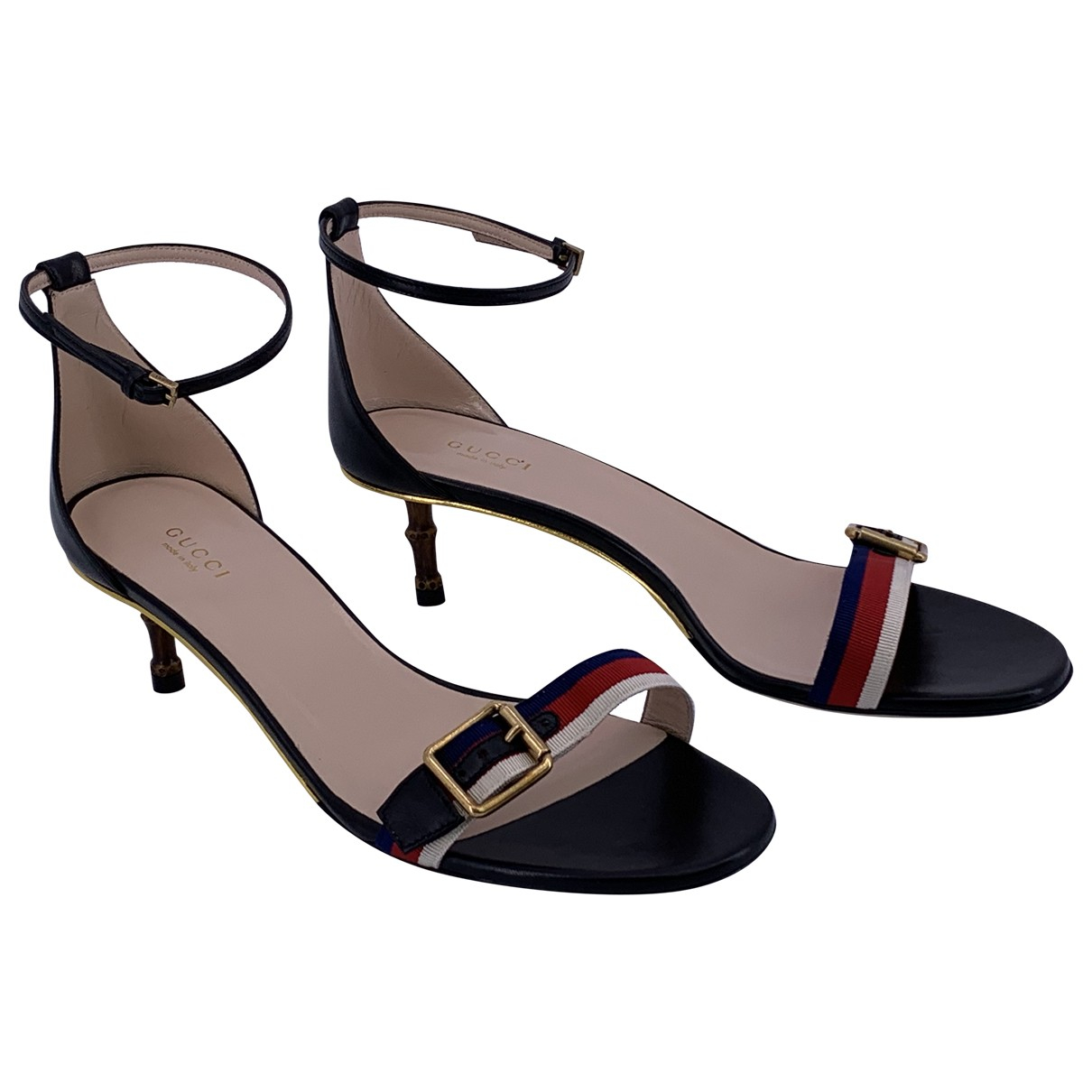 Gucci \N Black Leather Sandals for Women 40 IT