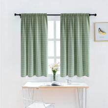 Kurzer Vorhang mit Karo Muster