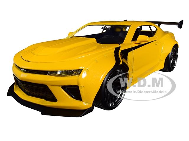 2016 Chevrolet Camaro Widebody Metallic Yellow with Black Stripes