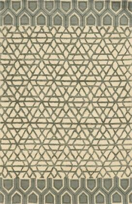 EDHEH881000370305 Eden Harbor EH8810-3 x 5 Hand-Tufted Premium blended wool with Viscose accents Rug in Ivory   Rectangle