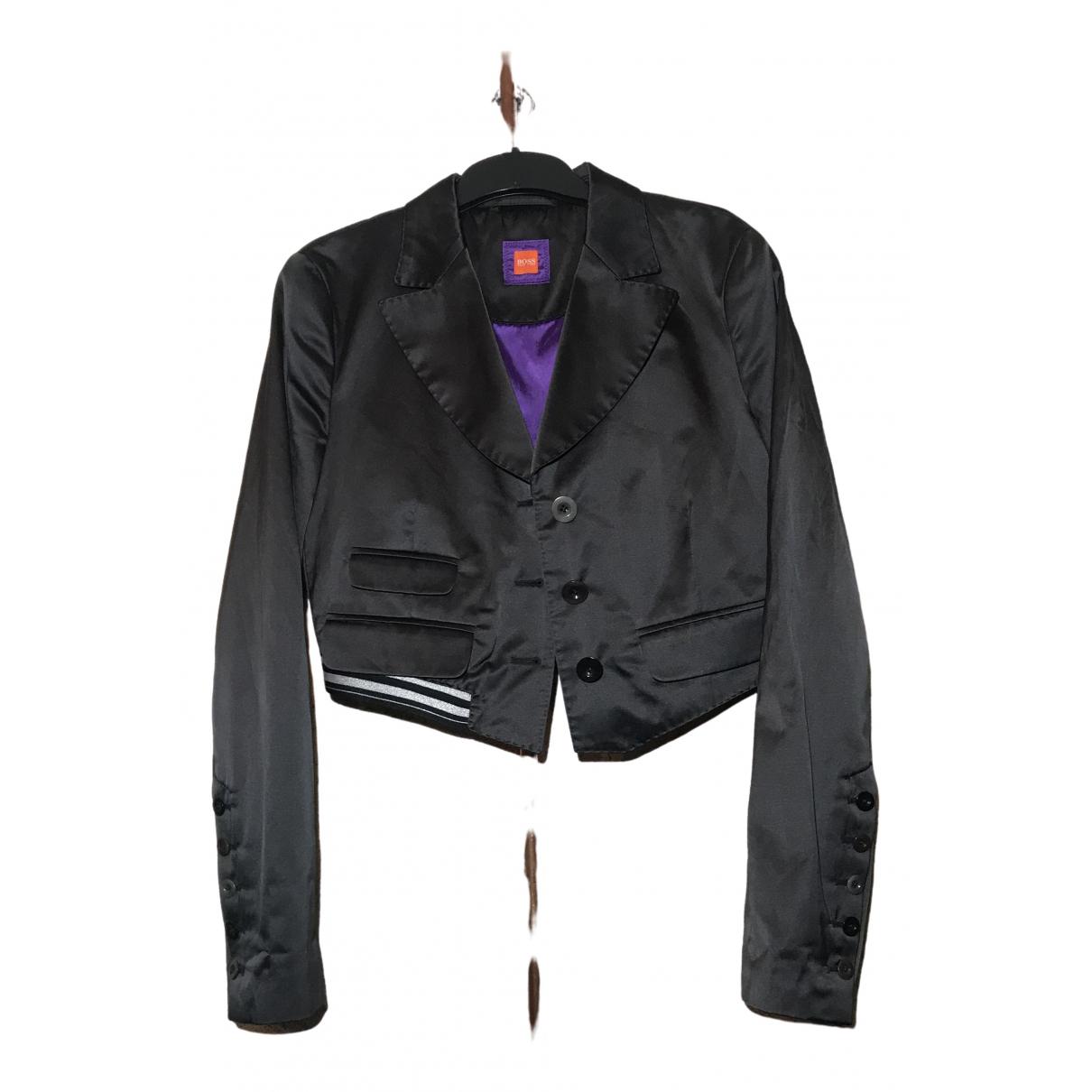 Boss - Veste   pour femme en coton - noir