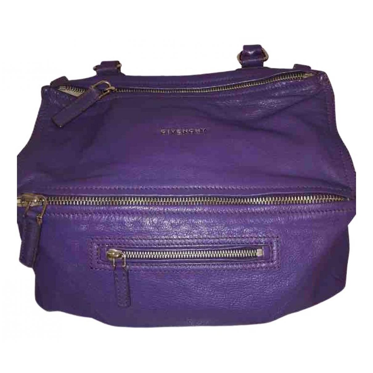 Givenchy Pandora Handtasche in  Lila Leder
