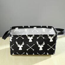 Deer Print Storage Basket