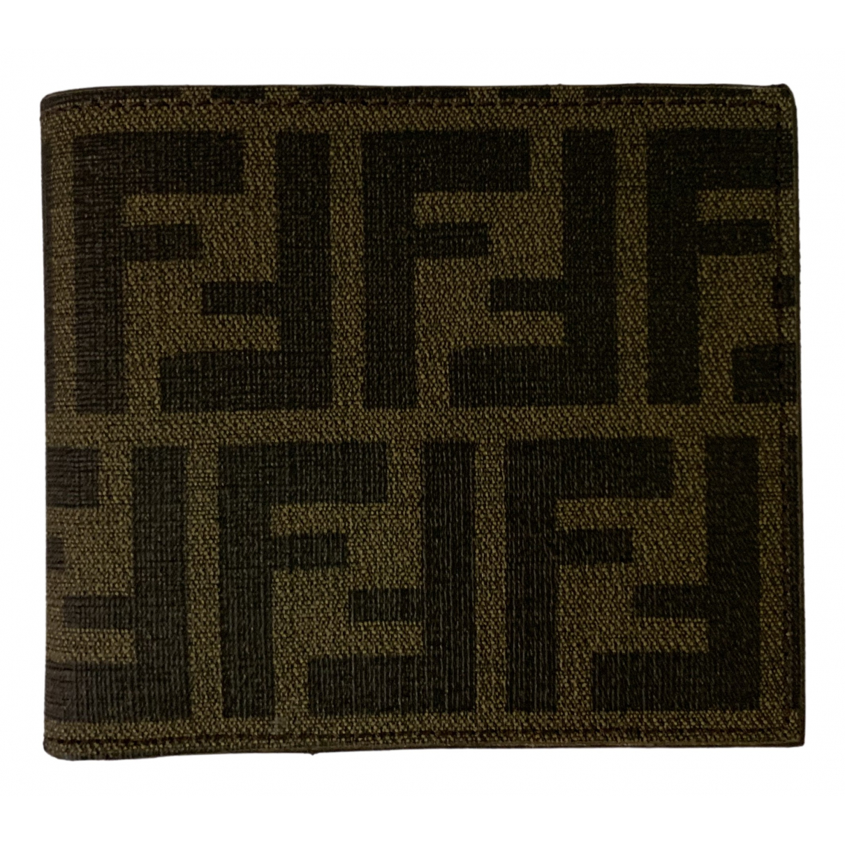 Fendi \N Brown Linen wallet for Women \N