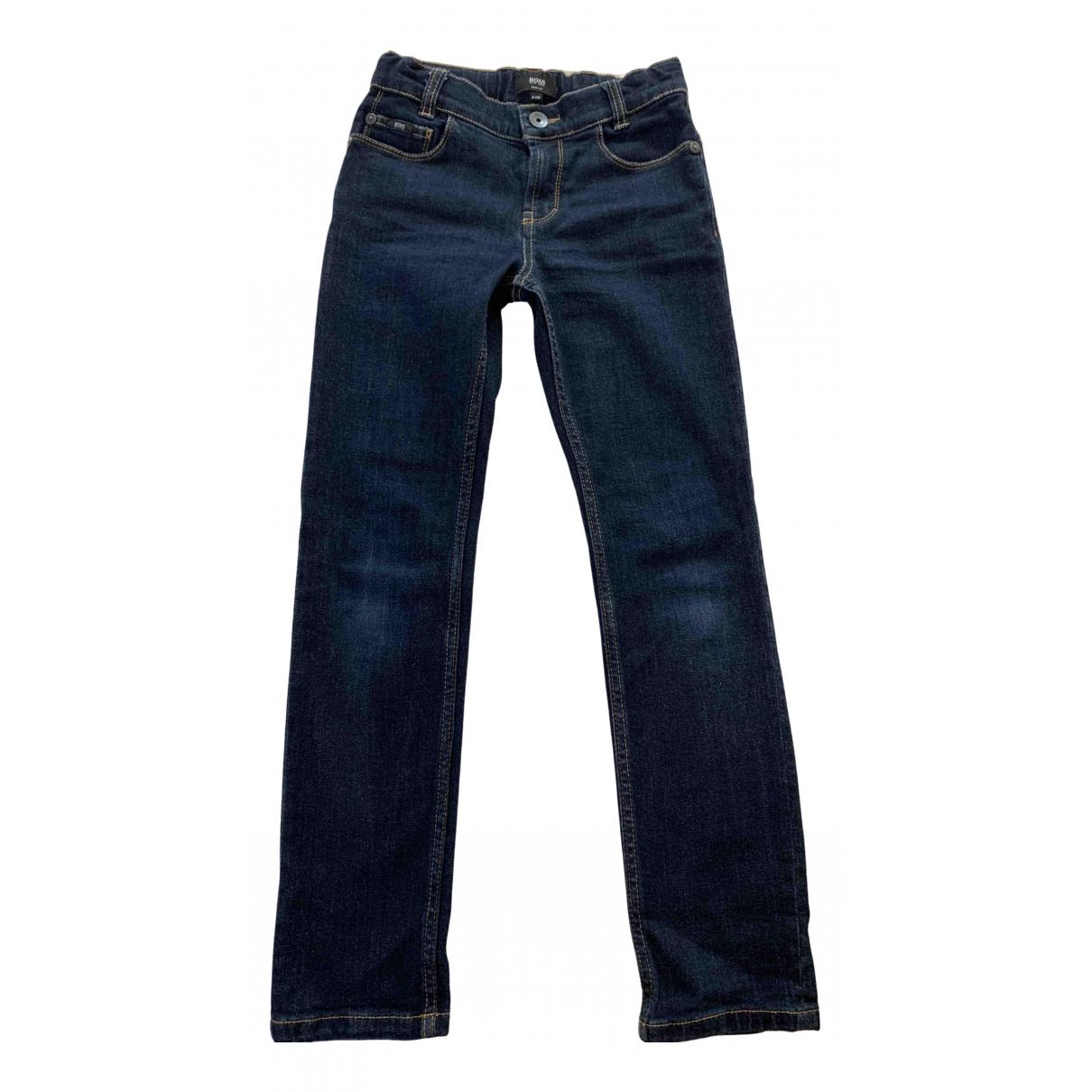 Boss - Pantalon   pour enfant en denim - bleu