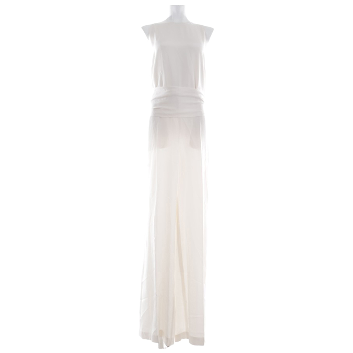 Stella Mccartney \N White Silk jumpsuit for Women 40 FR
