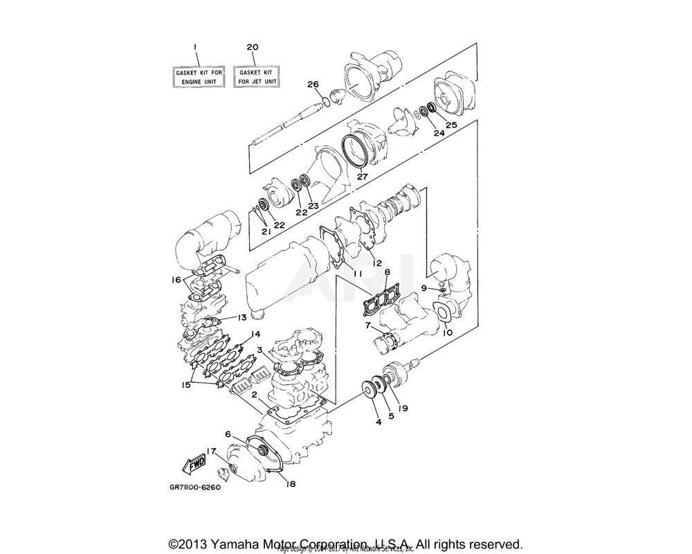Yamaha OEM 62T-45127-00-00 SEAL