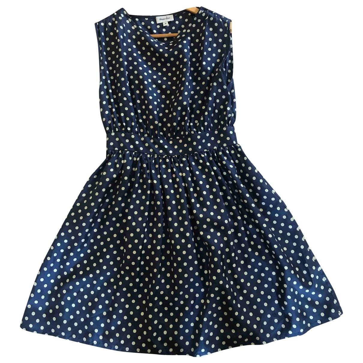 Steven Alan \N Kleid in  Blau Seide