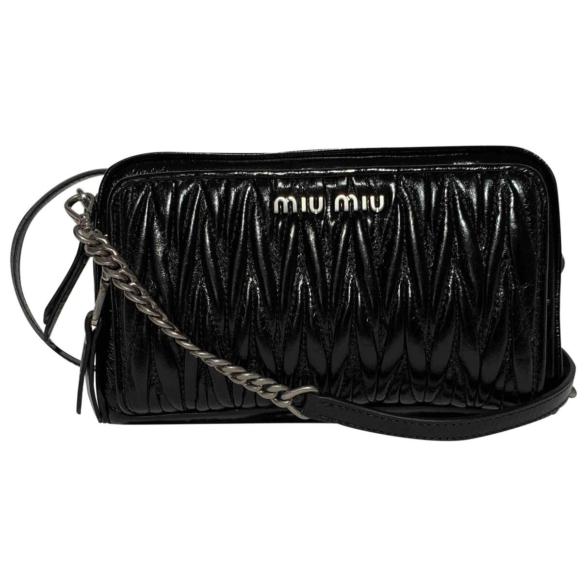 Miu Miu Matelassé Black Leather handbag for Women N