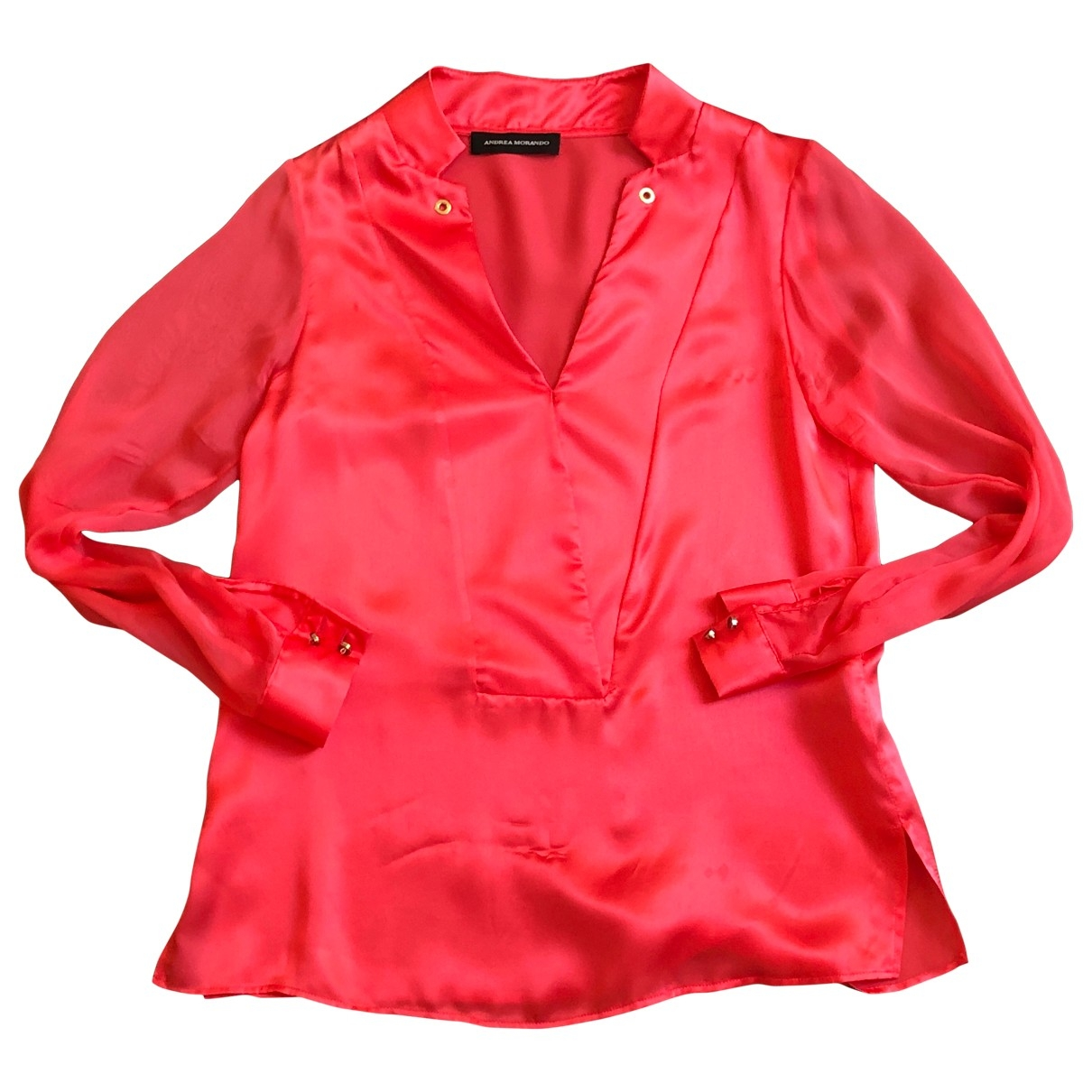 Non Signé / Unsigned \N Red Silk  top for Women S International