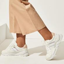 Striped Lace-up Front Chunky Sole Trainers