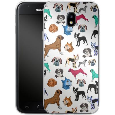 Samsung Galaxy J3 (2017) Silikon Handyhuelle - Puppy Love von Mukta Lata Barua