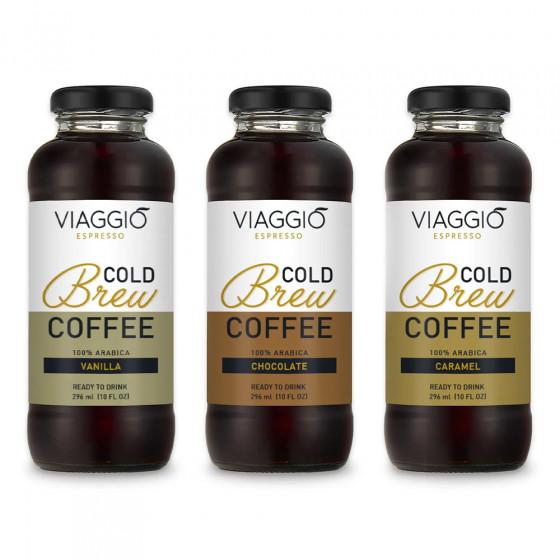"Kalt gebruehter Kaffee Viaggio Espresso ""Cold Brew Vanilla + Caramel + Chocolate"", 888 ml"