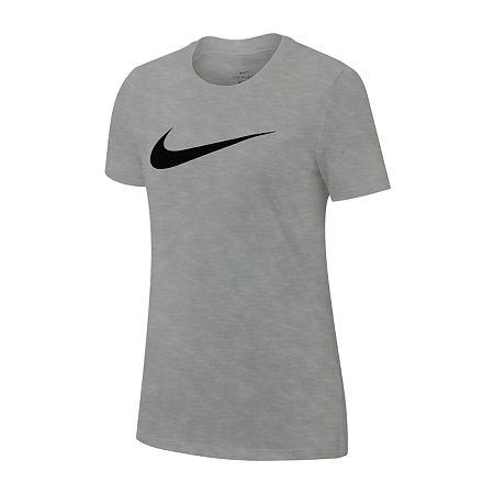 Nike Womens Crew Neck Short Sleeve Graphic T-Shirt, X-small , White