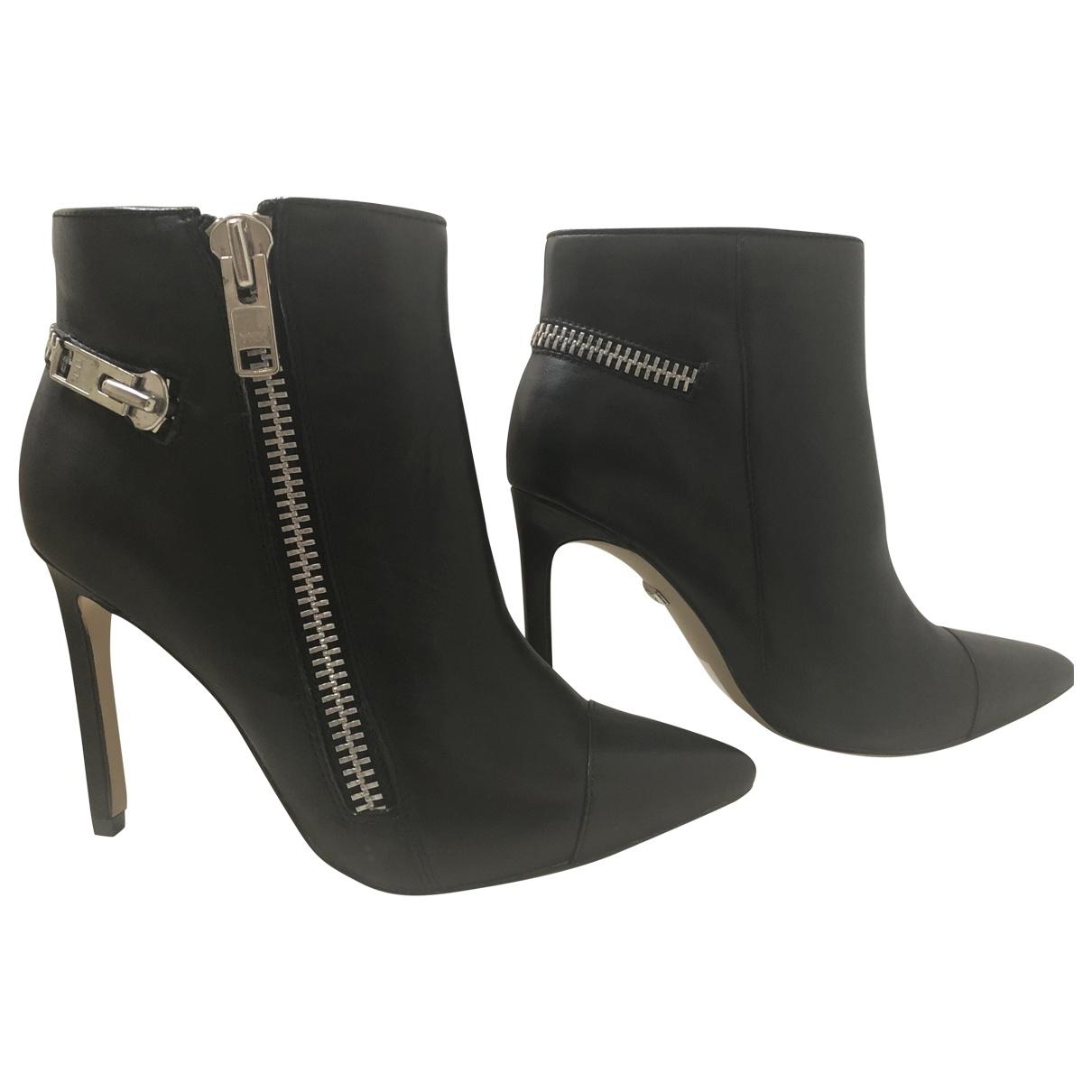 Buffalo - Boots   pour femme en cuir - noir