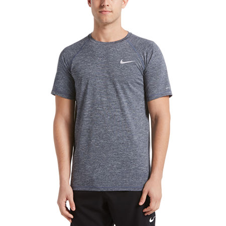 Nike Heather Hydroguard Short Sleeve Crew Neck Tee, X-large , Blue