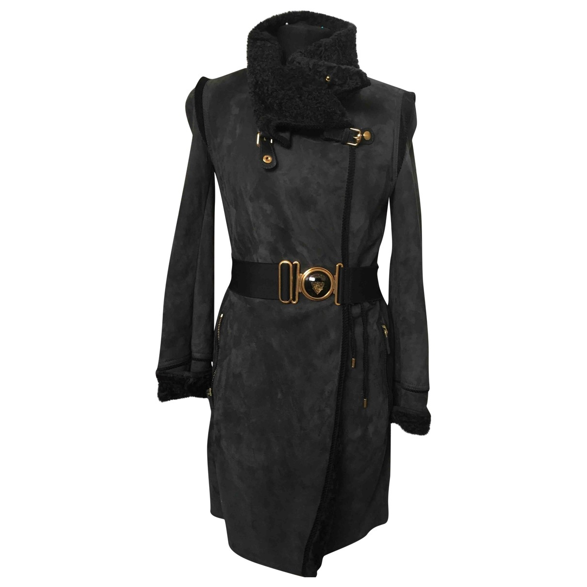 Gucci \N Grey Shearling coat for Women 42 IT