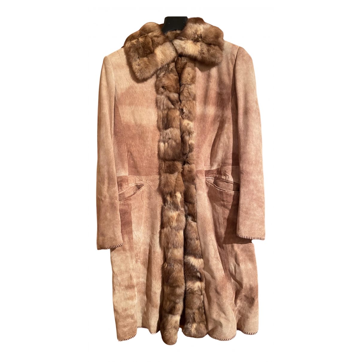Non Signé / Unsigned N Camel Mink coat for Women 44 IT
