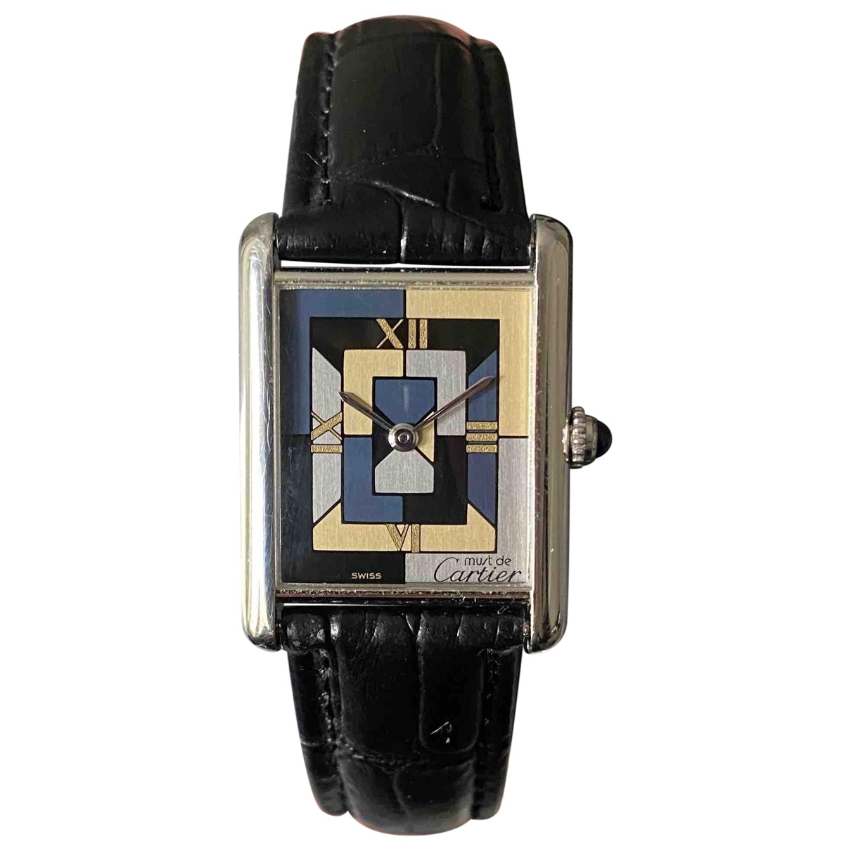 Cartier Tank Louis Cartier Silver Silver watch for Women \N