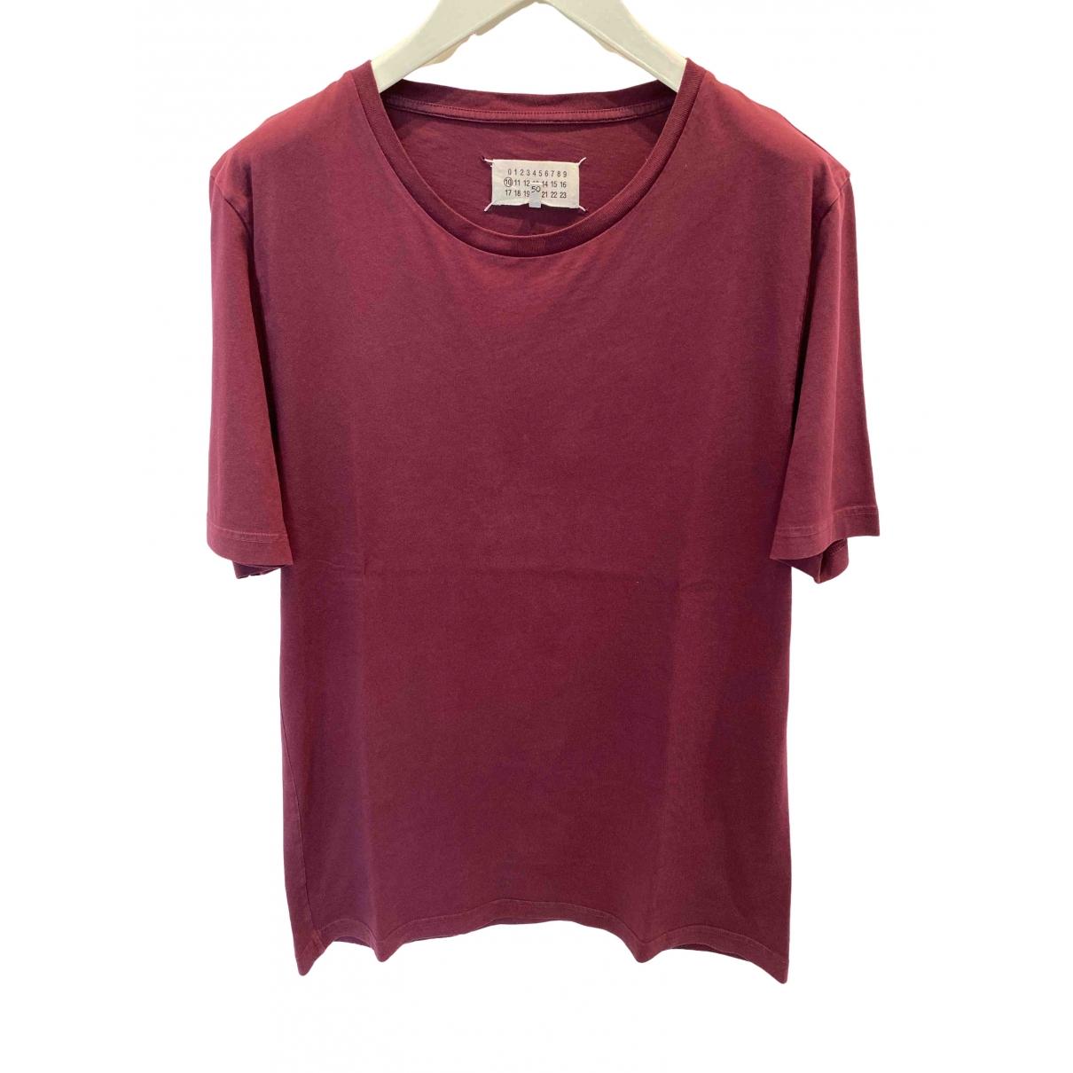 Maison Martin Margiela \N Burgundy Cotton T-shirts for Men L International