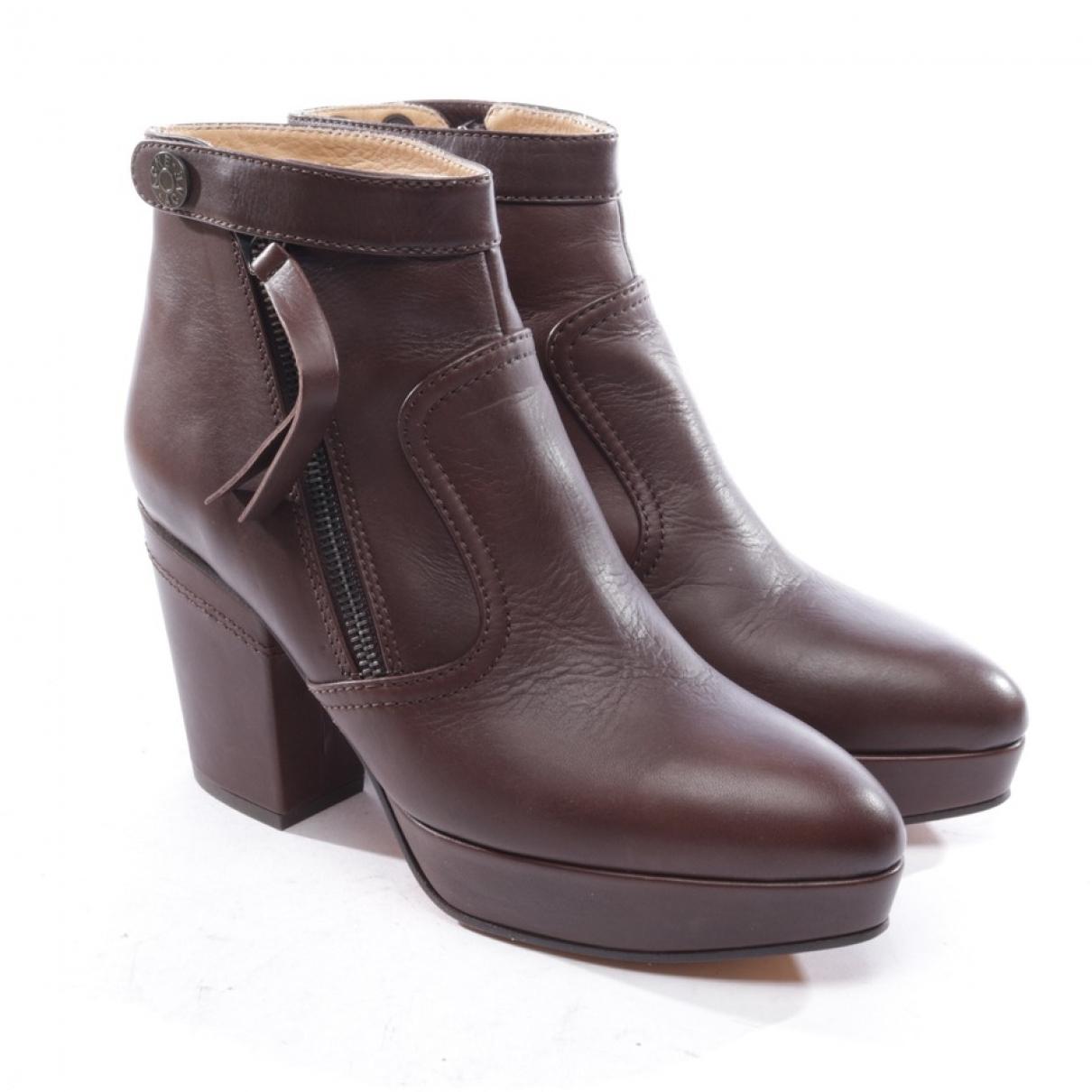 Acne Studios - Boots   pour femme en cuir - marron