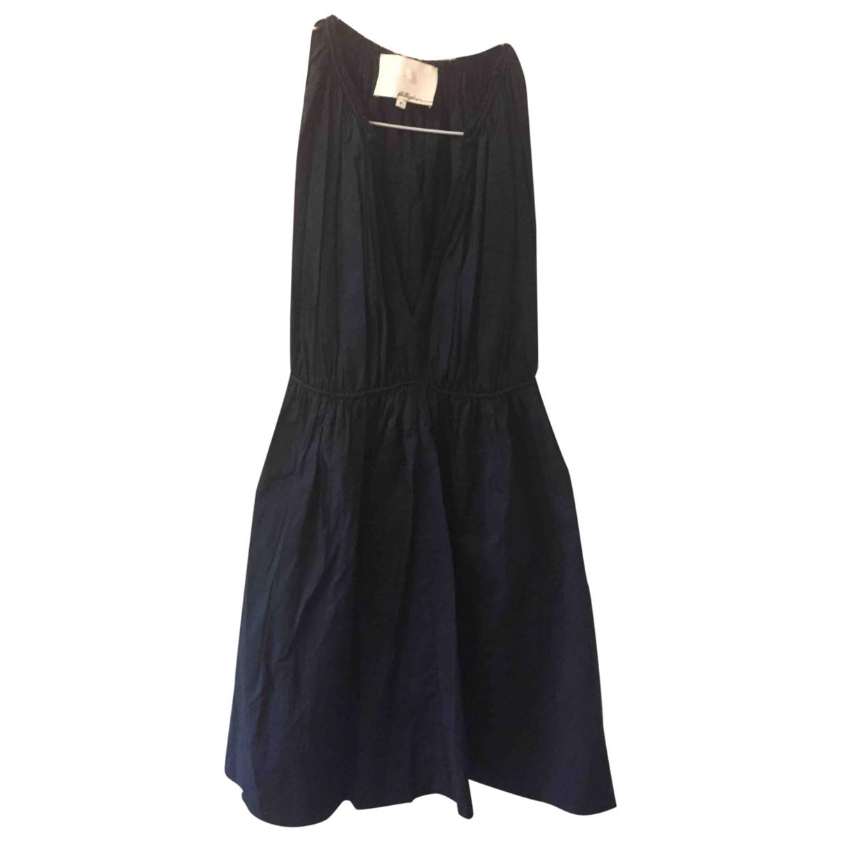 3.1 Phillip Lim \N Kleid in  Marine Baumwolle
