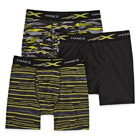 Hanes Little & Big Boys 3 Pack Boxer Briefs, Large , Multiple Colors