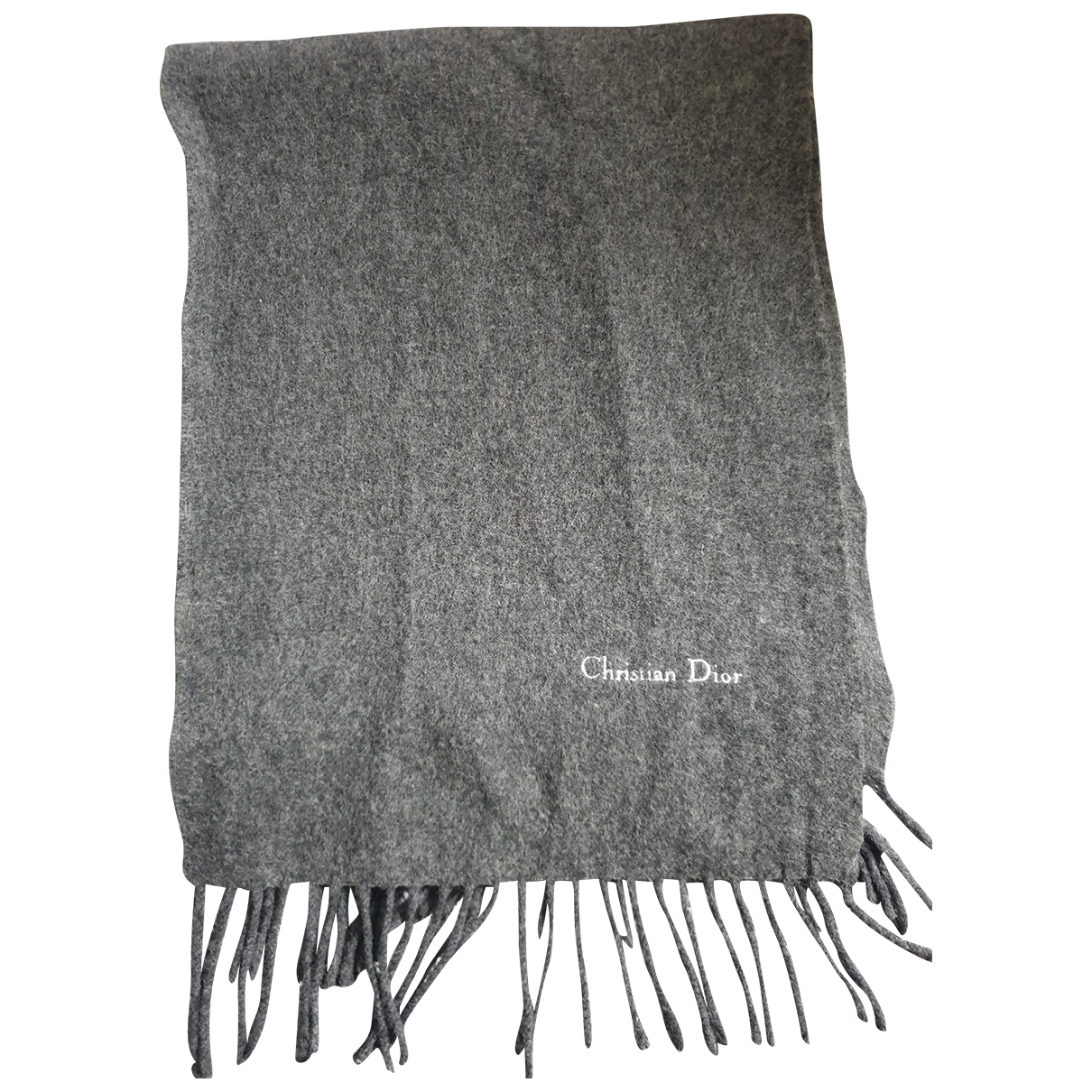 Christian Dior \N Schal in  Grau Wolle