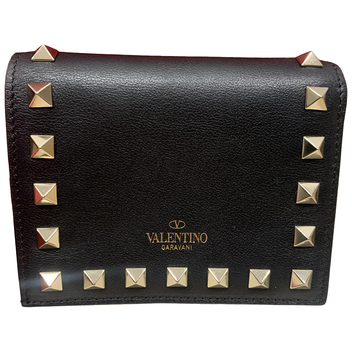 Valentino Garavani N Black Leather wallet for Women N