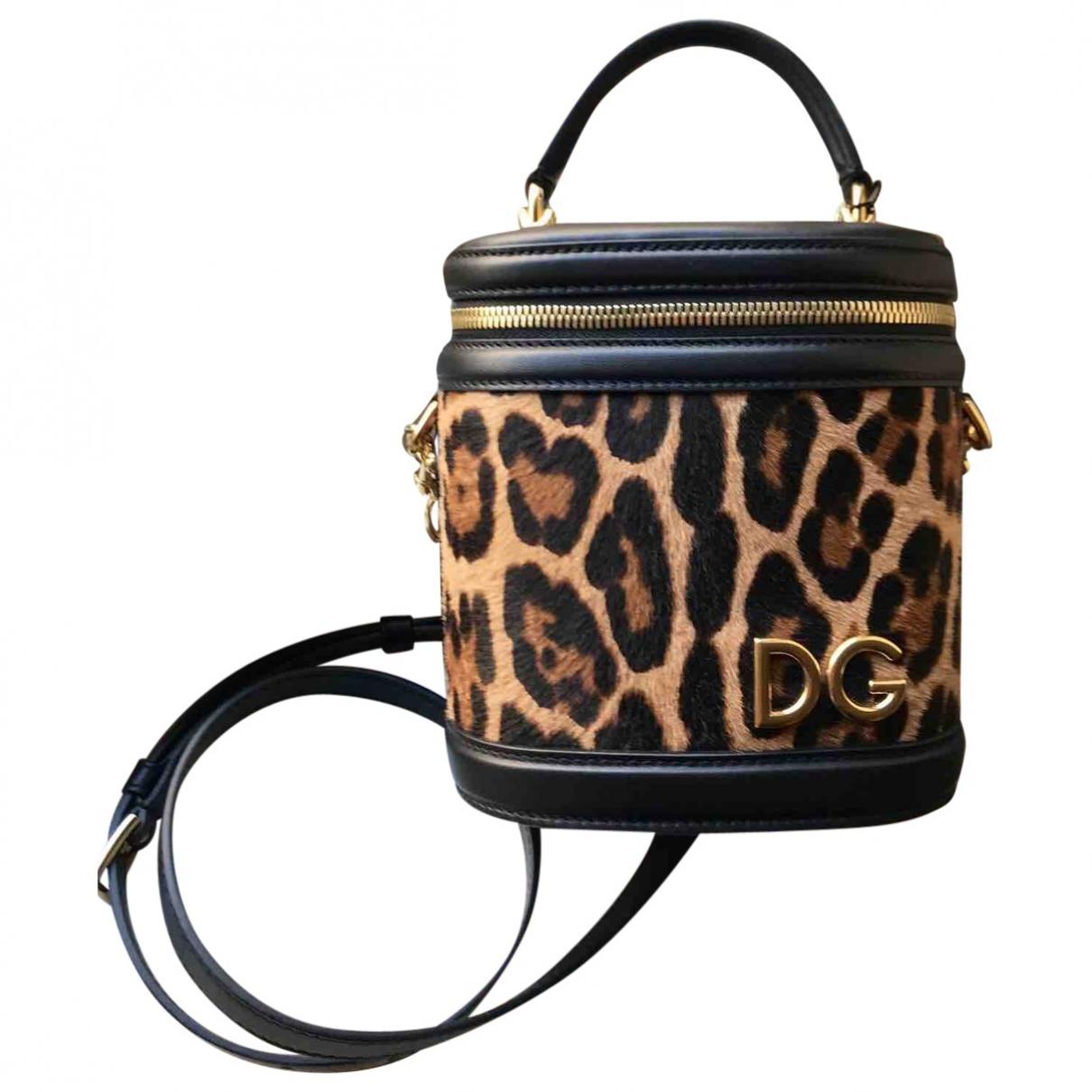 Dolce & Gabbana - Sac a main   pour femme en veau facon poulain - noir