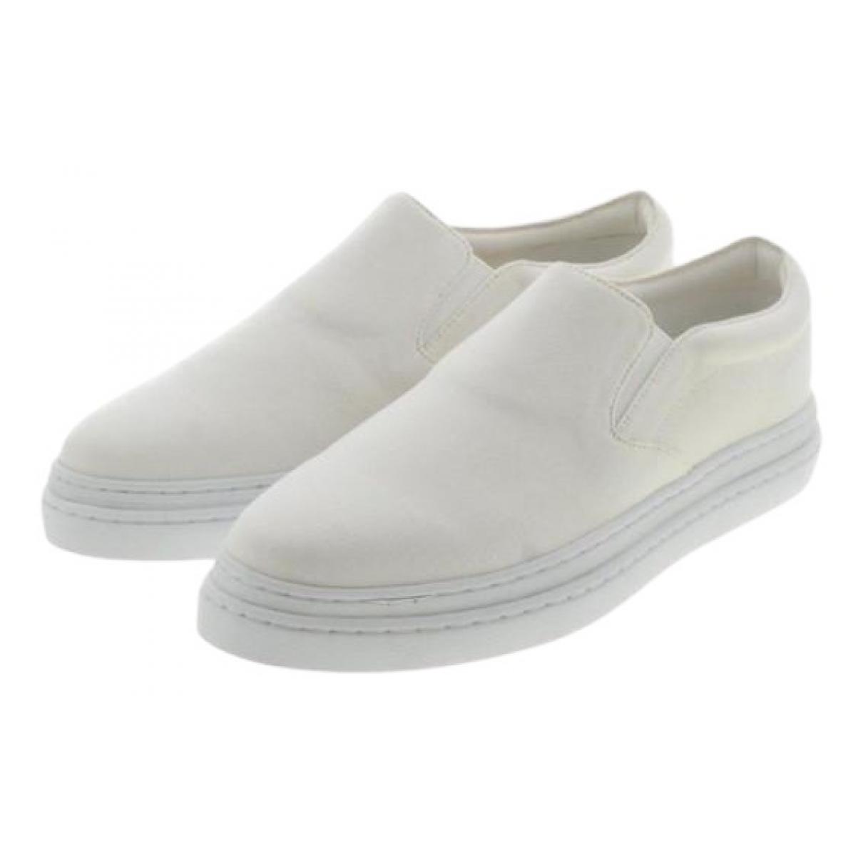 Comme Des Garcons N White Cloth Trainers for Women 38 EU