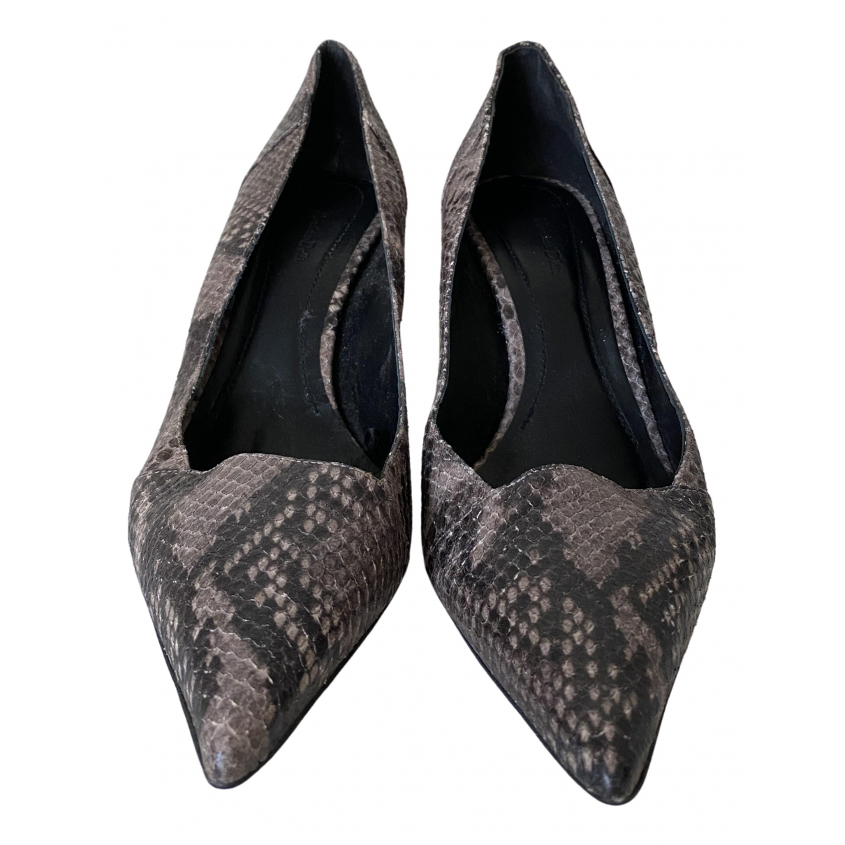 Massimo Dutti \N Grey Leather Heels for Women 41 IT