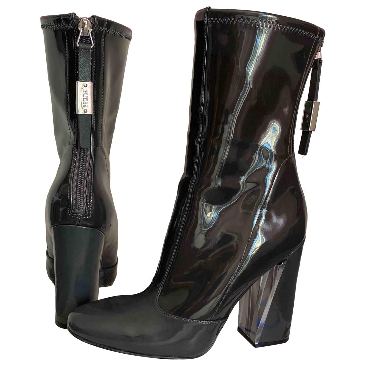 Guess - Boots   pour femme - gris
