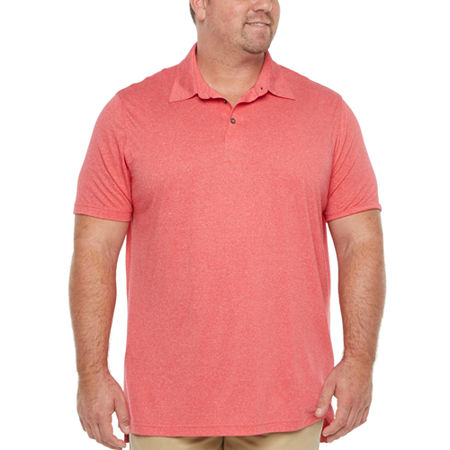 The Foundry Big & Tall Supply Co. Big and Tall Mens Short Sleeve Polo Shirt, X-large Tall , Red