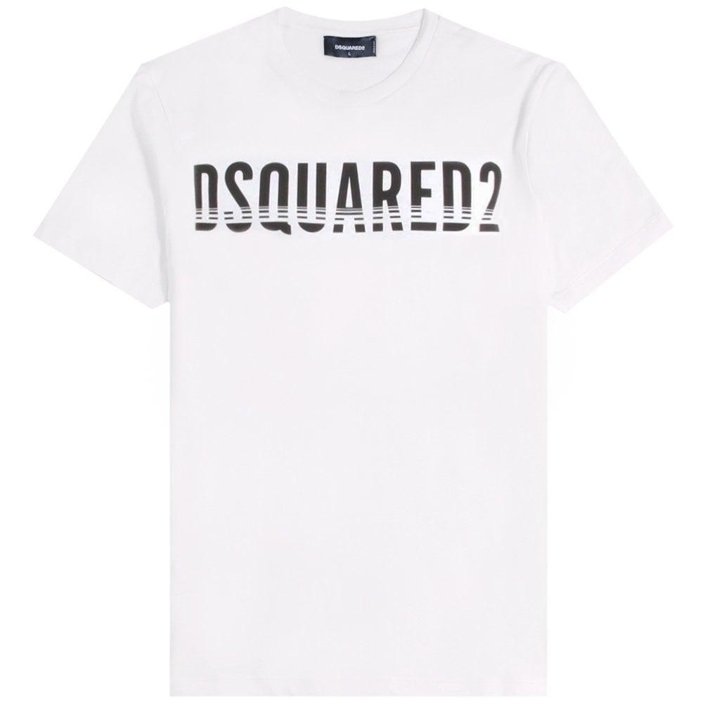 Dsquared2 Classic Logo T-Shirt Colour: WHITE, Size: EXTRA EXTRA EXTRA LARGE
