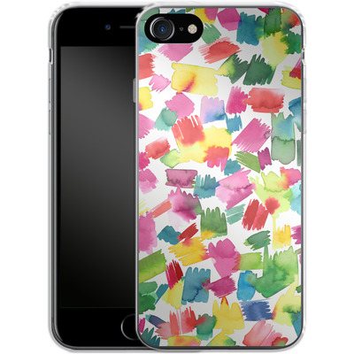 Apple iPhone 8 Silikon Handyhuelle - Abstract Spring Colorful von Ninola Design