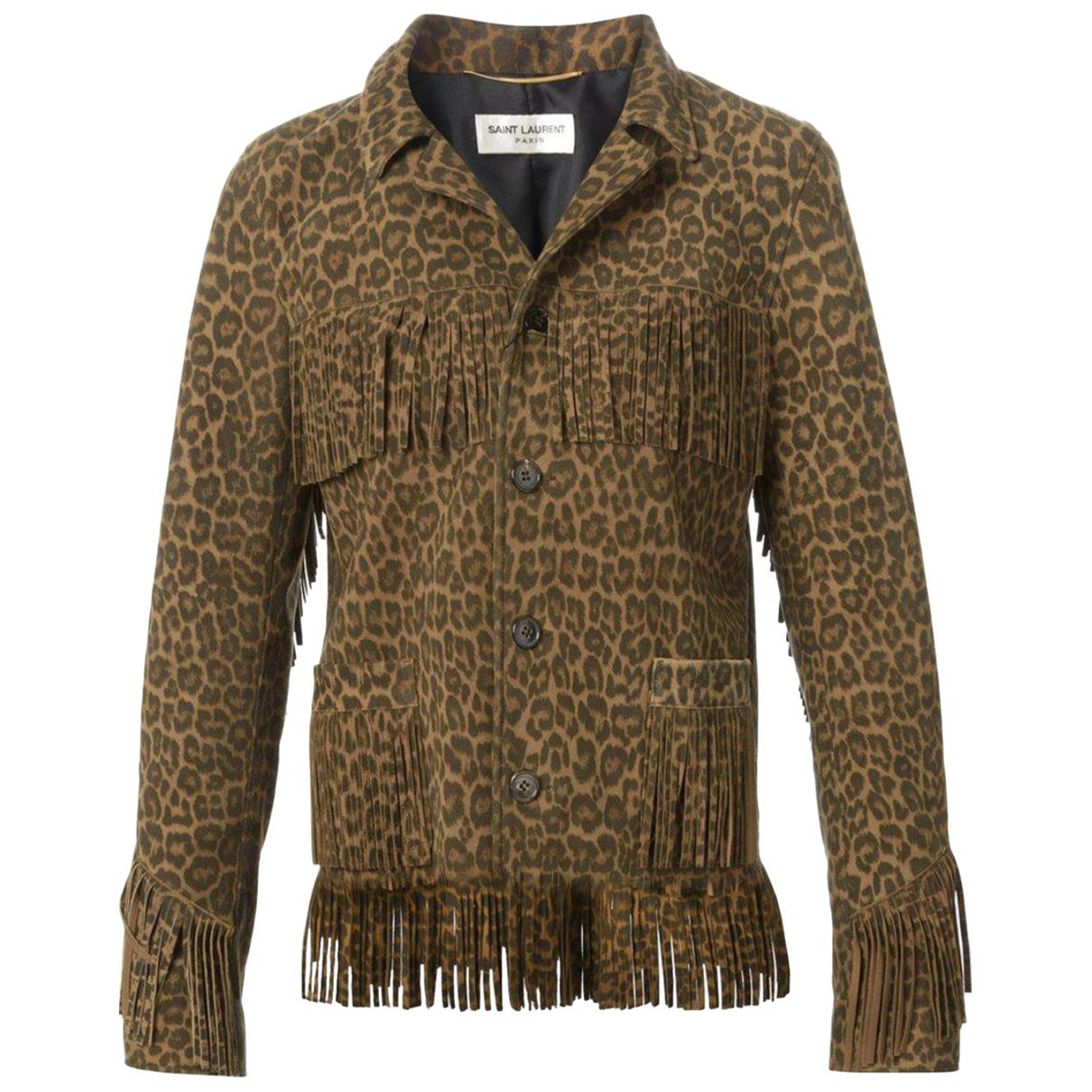 Saint Laurent N Brown Suede jacket for Women 38 FR